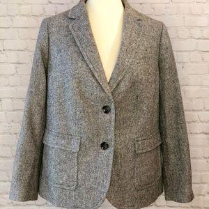 Talbots blazer lined gray size 14WP